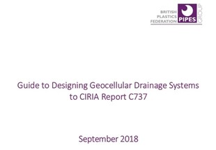 Guide to designing geocellular drainage systems to CIRIA report C737